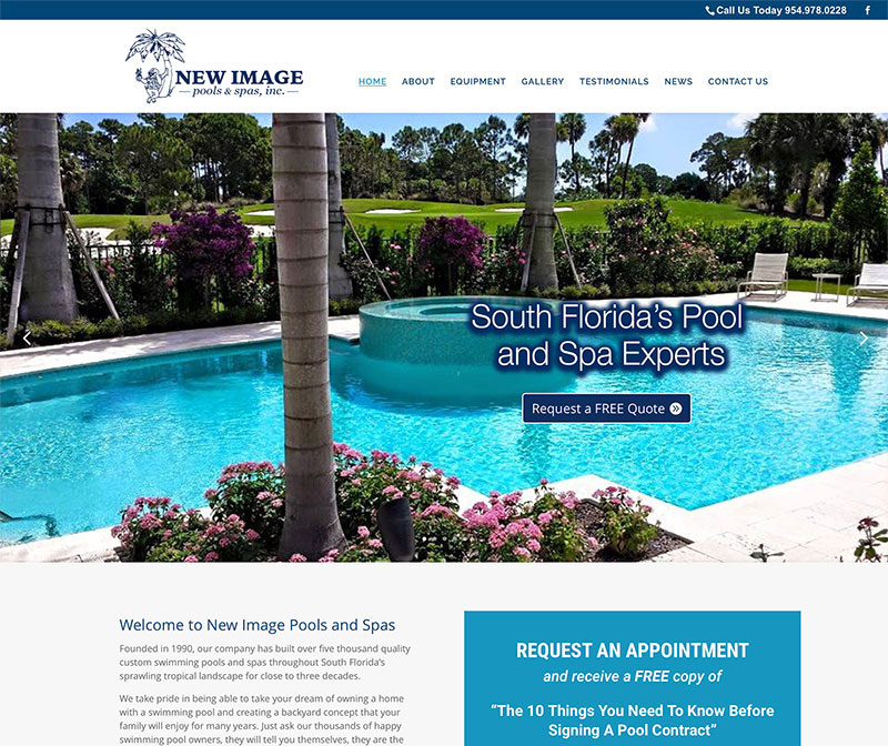 New Image Pools and Spas Launches New Website!